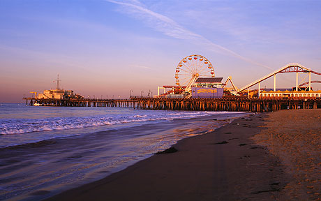 Santa Monica Beach And Pier Location 4th Street Recording Studio Los Angeles